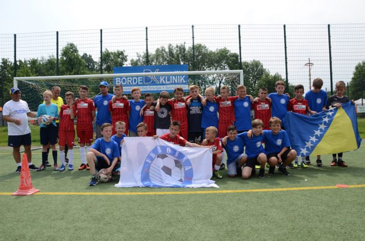 die Kicker der D2 aus Büderich und vom FK Bosna Kalesija